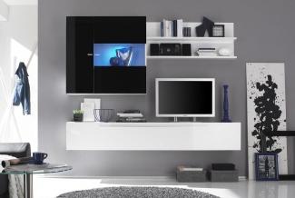 ТВ стенка белая с черным современная на заказ