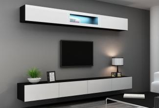 ТВ тумба белая современная подвеснаяна заказ