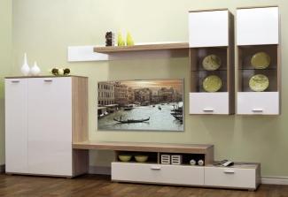 стенка-горка в гостиную под ТВ современная на заказ недорого в Москве