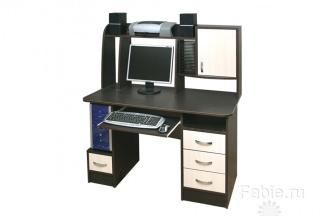 Компьютерный стол венге с ящиками