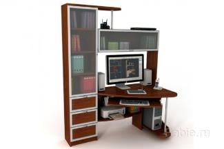 Стол, шкафы со стеклами