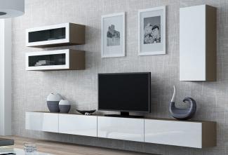 ТВ стенка белая современная на заказ