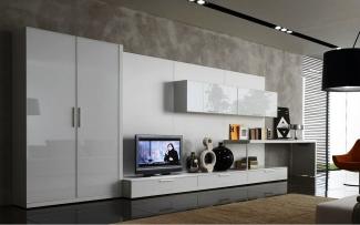 ТВ стенка в гостиную современная глянец на заказ