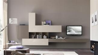 ТВ стенка подвесная в гостиную современная на заказ