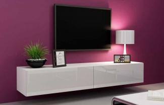 ТВ тумба подвесная в гостиную современная на заказ