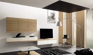 стенка-горка в гостиную под ТВ современная под заказ недорого в Москве