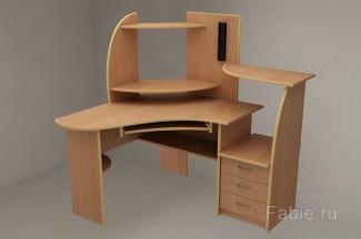 Стол рабочий угловой с ящиками