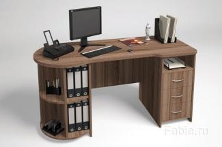 Рабочий стол темный ясень