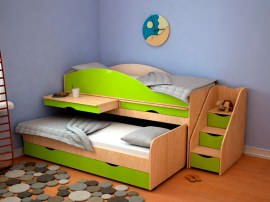 Детская кровать на 2 ребенка